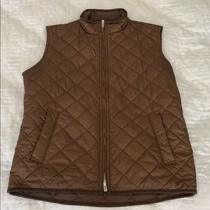 Peter Millar Brown Quilted Vest